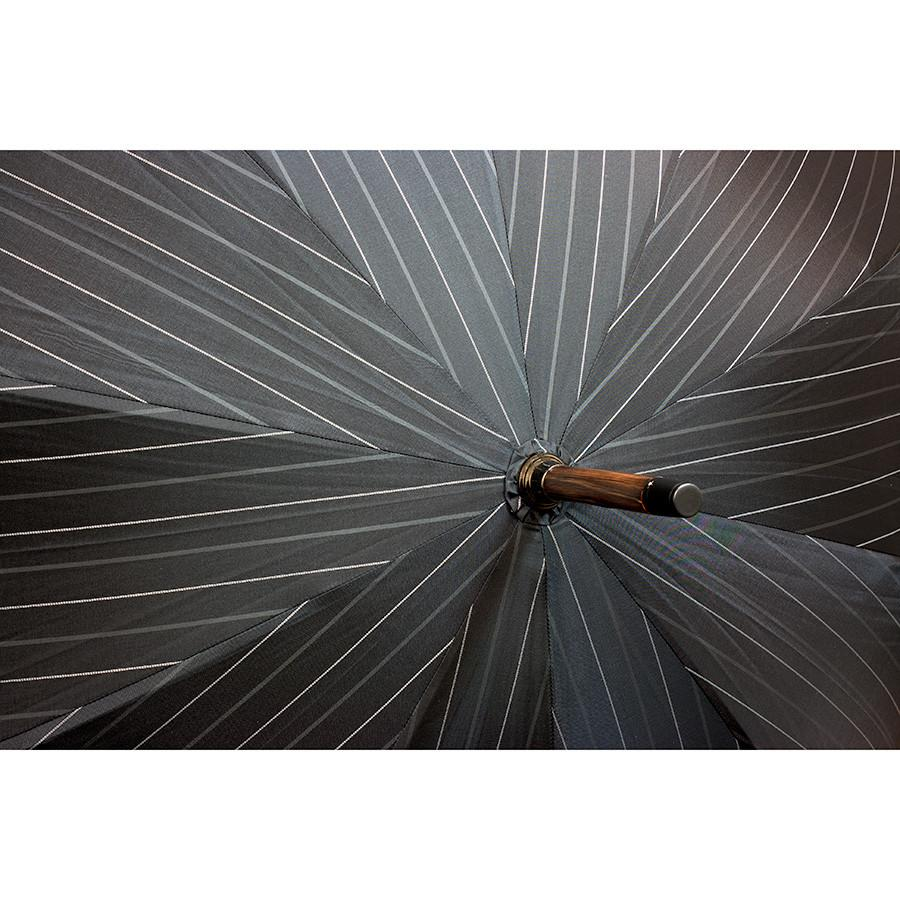 Doppler Orion Gentlemen's Umbrella with Chestnut Handle, Pinstripes - Fendrihan Canada - 4