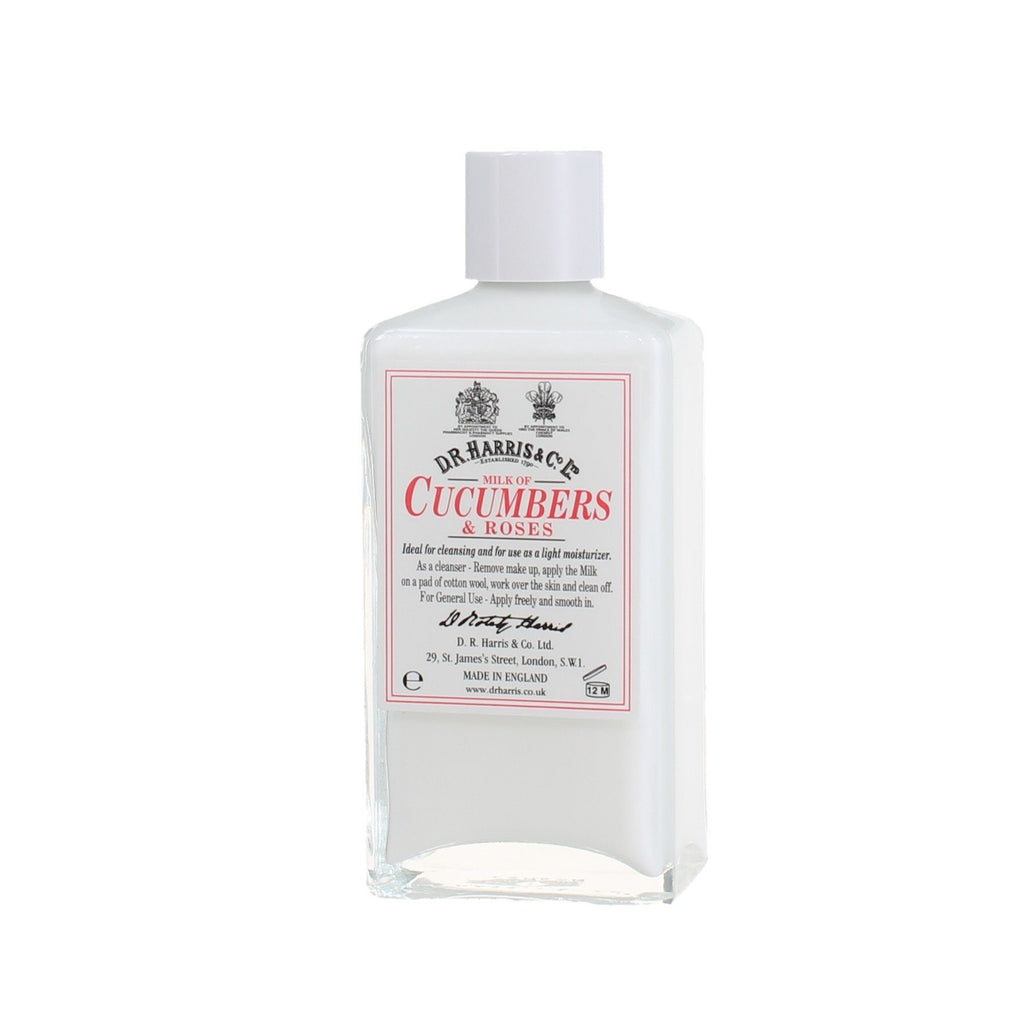 D.R. Harris Milk of Cucumbers and Roses Facial Care D.R. Harris & Co 100 ml Glass Bottle