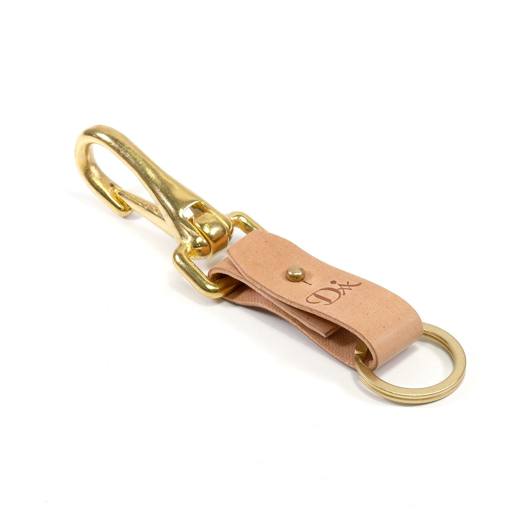 Diarge Brass and Leather Bottle Keyring Keyring Diarge Natural