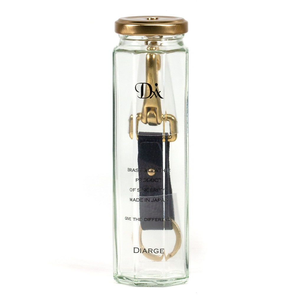 Diarge Brass and Leather Bottle Keyring Keyring Diarge