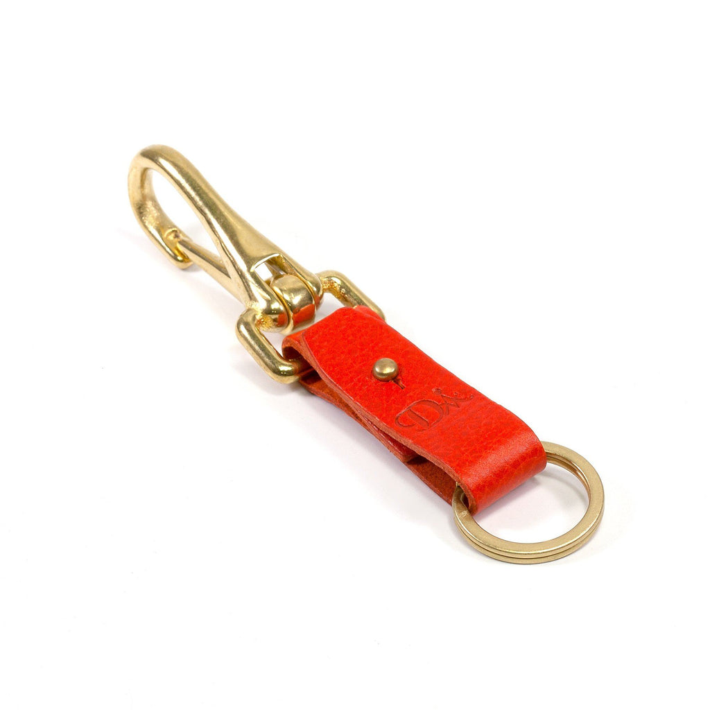 Diarge Brass and Leather Bottle Keyring Keyring Diarge Orange