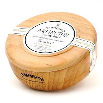 D.R. Harris Arlington Shaving Soap in Beech Wood Bowl - Fendrihan Canada