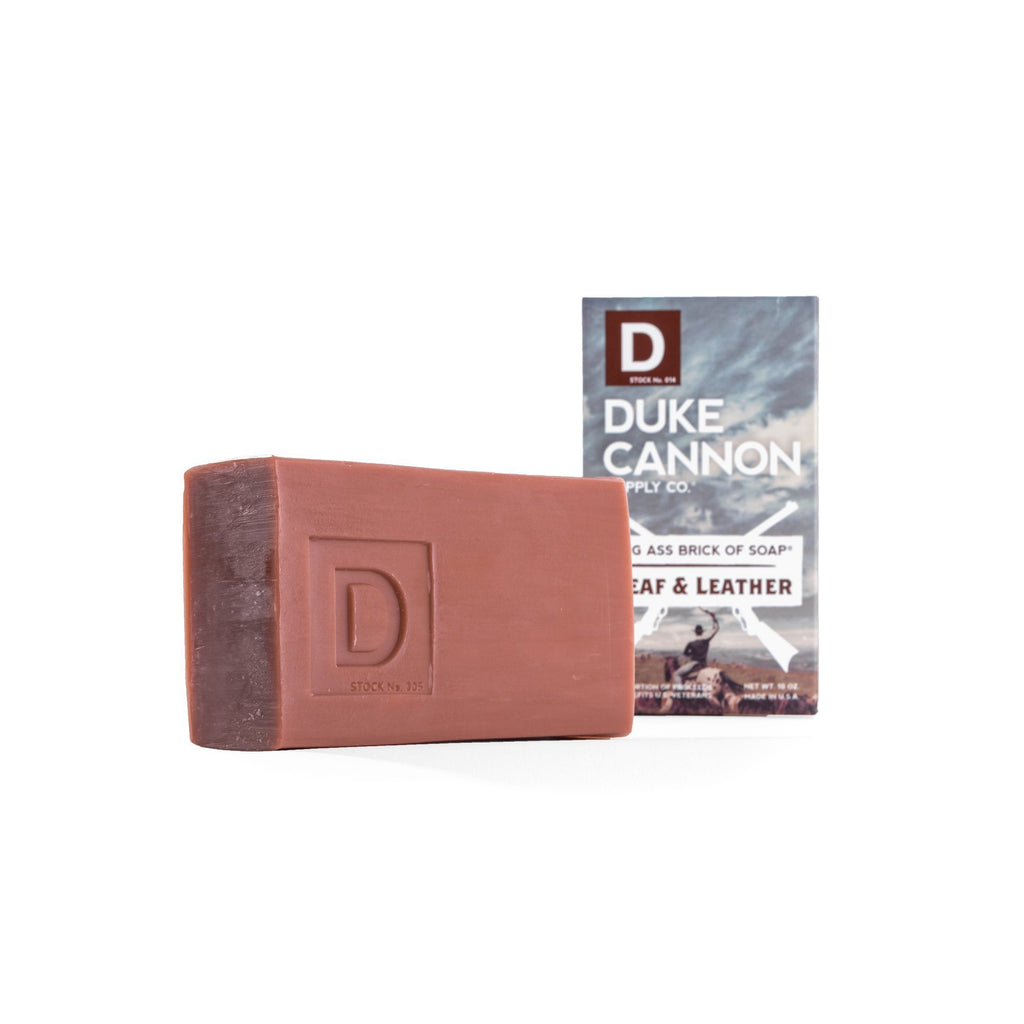 Duke Cannon Supply Co. Big Ass Brick of Soap, Leaf & Leather Body Soap Duke Cannon Supply Co