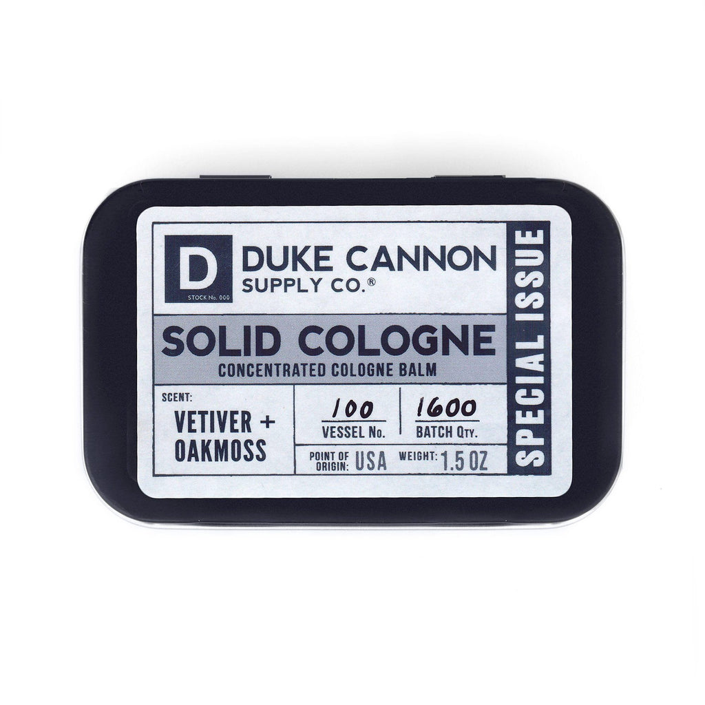 Duke Cannon Solid Cologne, Special Issue Men's Fragrance Duke Cannon Supply Co Vetiver & Oakmoss