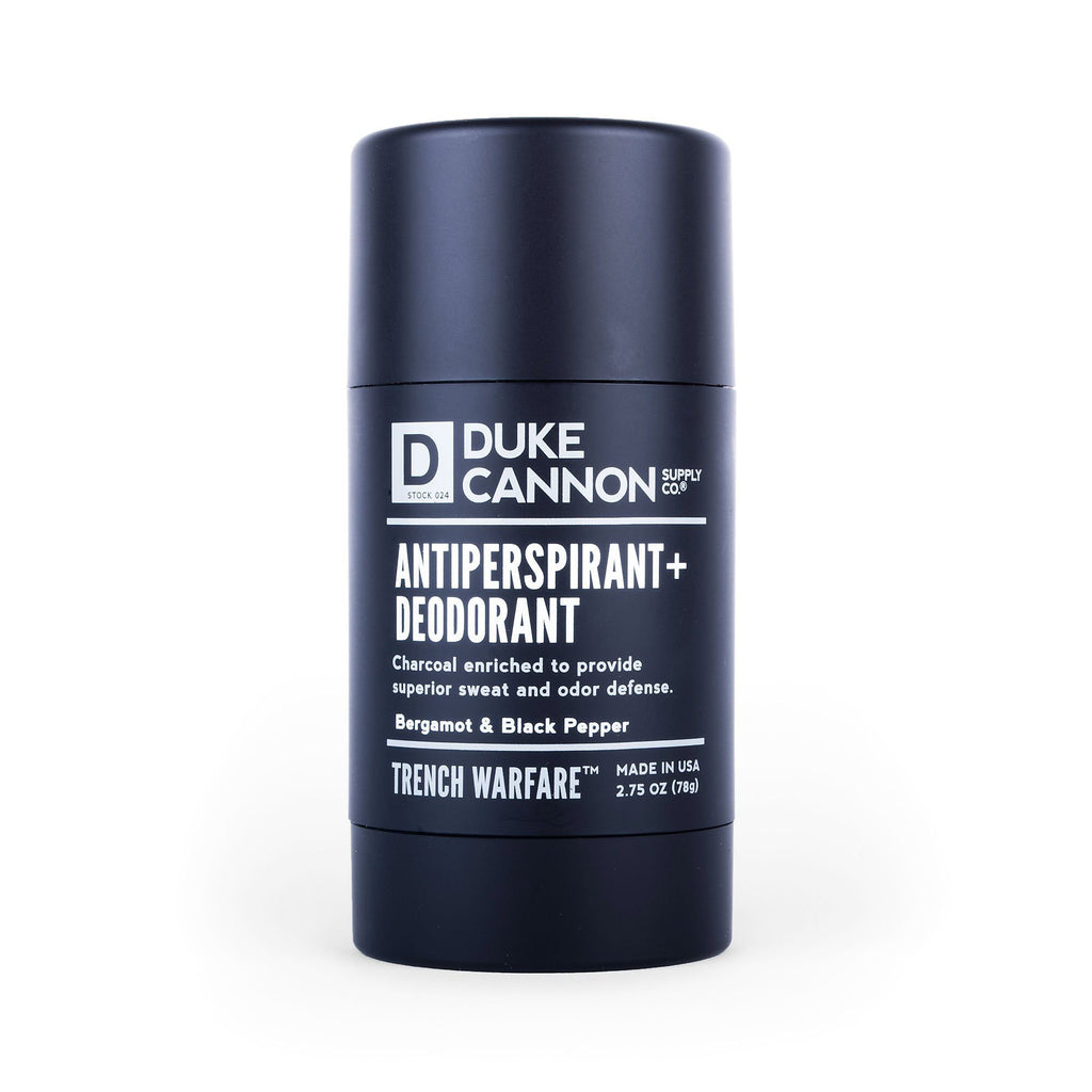 Duke Cannon Trench Warfare Antiperspirant + Deodorant Deodorant Duke Cannon Supply Co Bergamot & Black Pepper