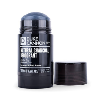 Duke Cannon Trench Warfare Natural Charcoal Deodorant Deodorant Duke Cannon Supply Co Bergamot & Black Pepper