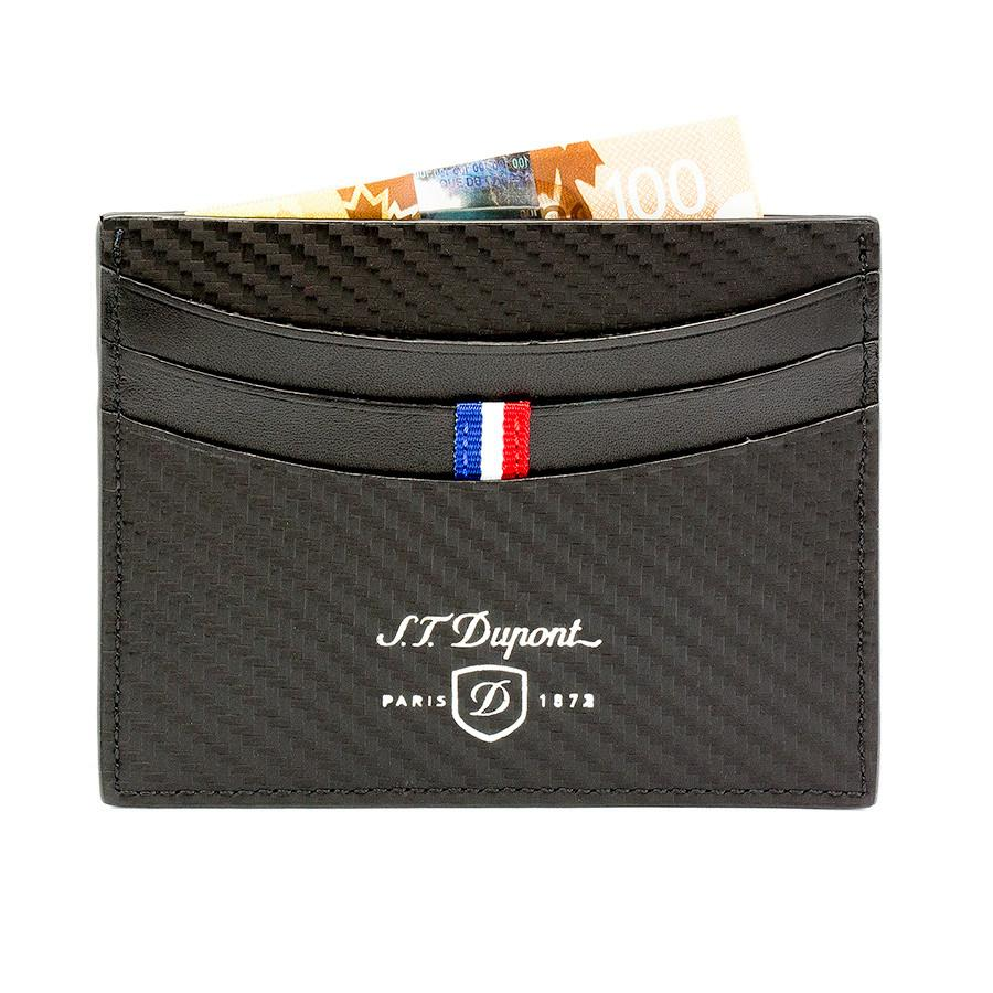 S.T. Dupont Defi Leather Credit Card Case, Carbone - Fendrihan Canada - 1