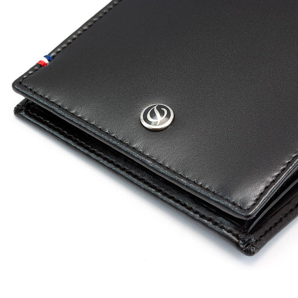 S.T. Dupont Line D Money Clip Leather Wallet with 6 CC Slots, Elysee Black - Fendrihan Canada - 5