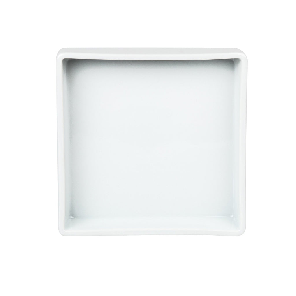 Decor Walther White Porcelain Tray, Square