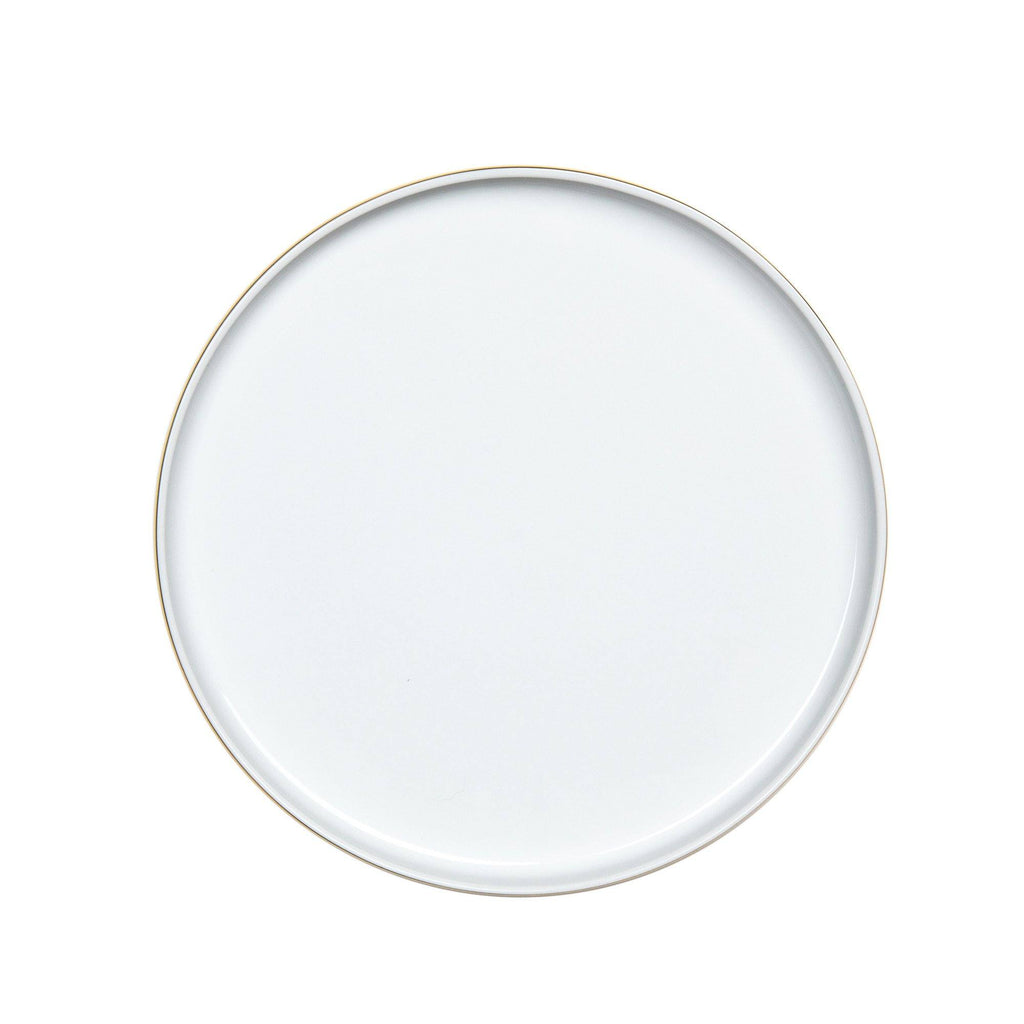 Decor Walther Porcelain White Multipurpose Tray, Gold or Platinum