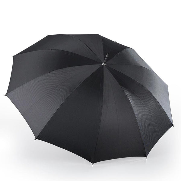 Brilliant Luxury Pure Silk Gentlemen's Umbrella, Metal Shaft and Malacca Wood Handle - Fendrihan Canada - 2