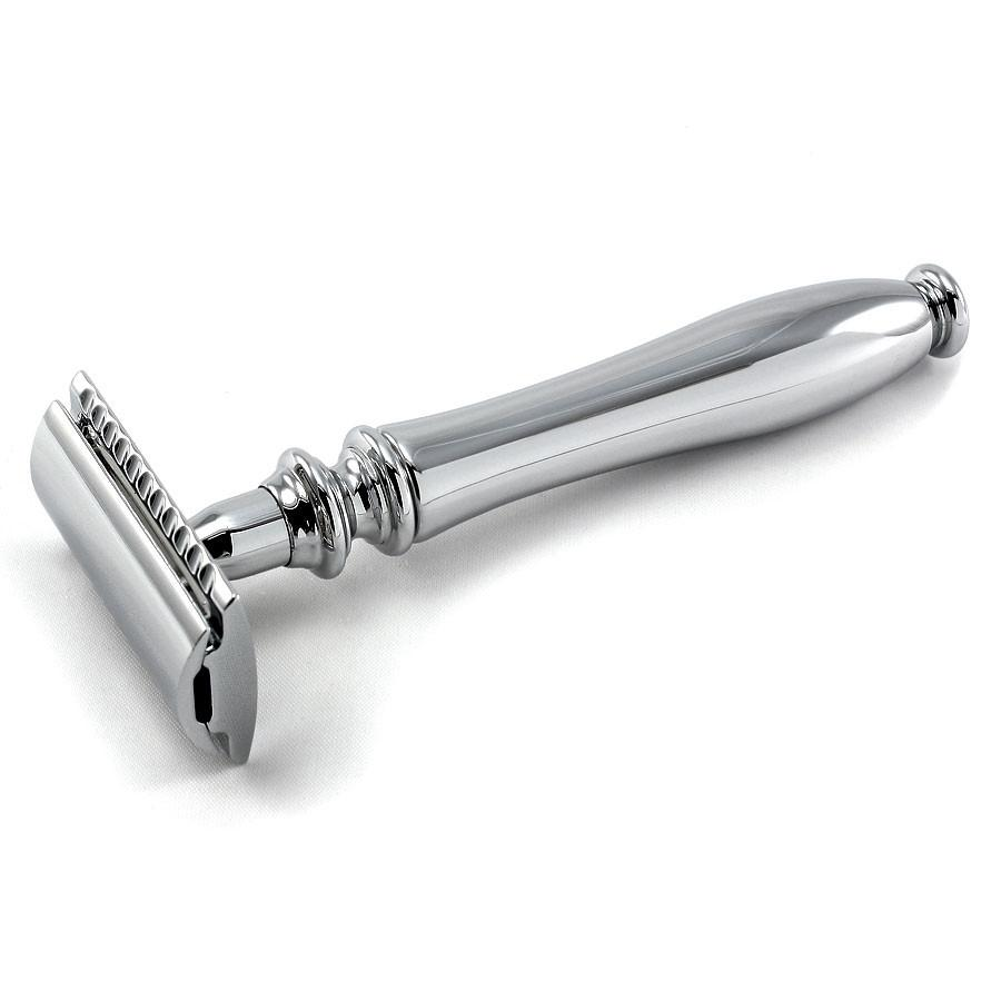 Edwin Jagger Chatsworth Classic Double-Edge Razor, Polished Double Edge Safety Razor Edwin Jagger