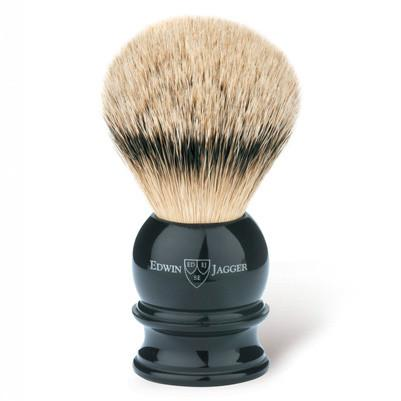 Edwin Jagger Silvertip Handmade English Shaving Brush and Stand in Ebony, Large - Fendrihan Canada - 2