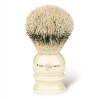 Edwin Jagger Silvertip Handmade English Shaving Brush and Stand in Ivory, Medium - Fendrihan Canada - 2