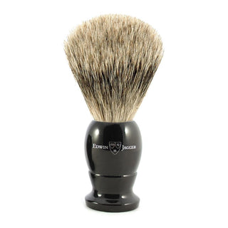 Edwin Jagger Best Badger Shaving Brush in Ebony, Medium Badger Bristles Shaving Brush Edwin Jagger