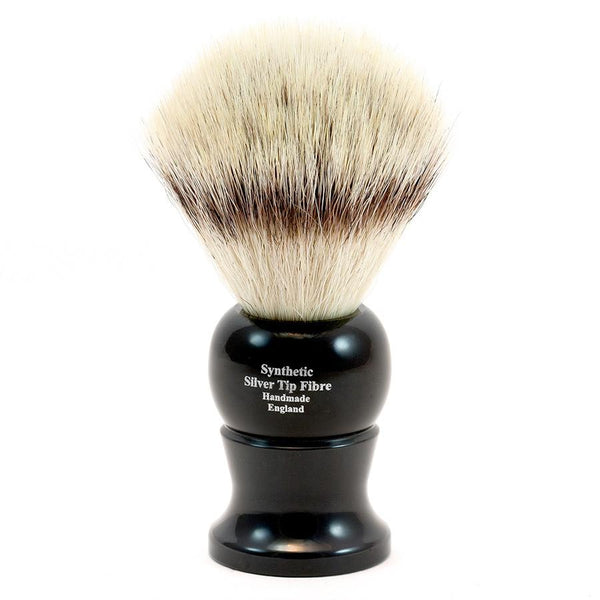 Edwin Jagger Synthetic Silvertip Fibre Handmade English Shaving Brush in Ebony, Large - Fendrihan Canada - 2