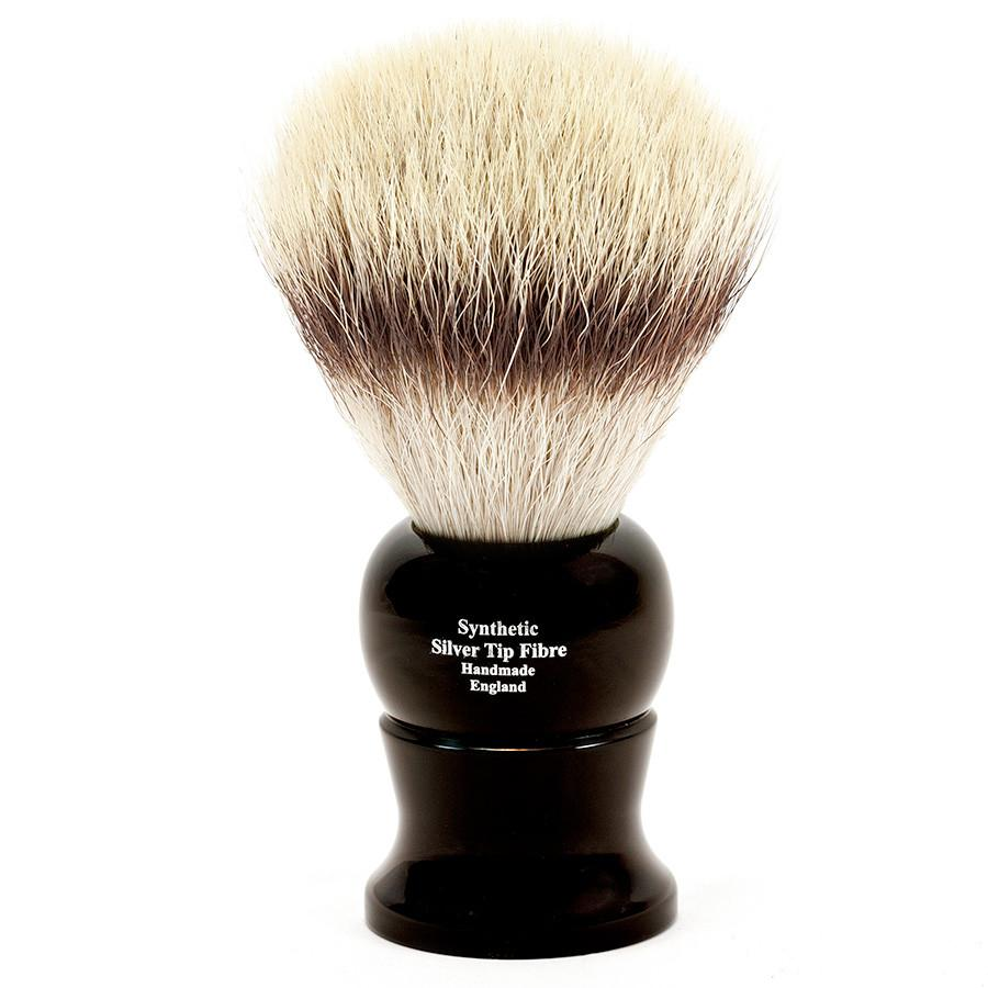 Edwin Jagger Synthetic Silvertip Fibre Handmade English Shaving Brush in Ebony, Extra Large - Fendrihan Canada - 2