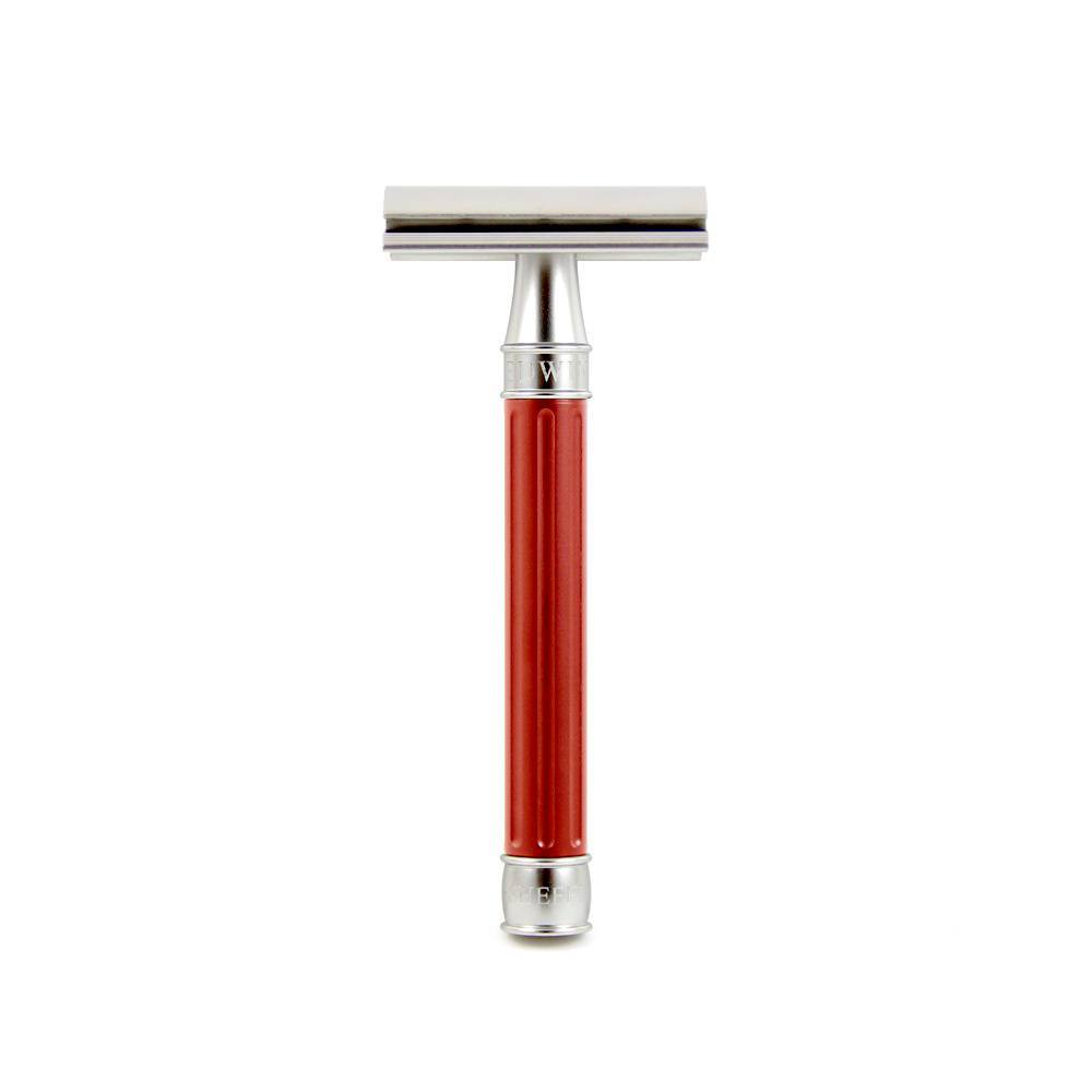Edwin Jagger 3ONE6 Stainless Steel Double Edge Safety Razor Double Edge Safety Razor Edwin Jagger Anodized Red