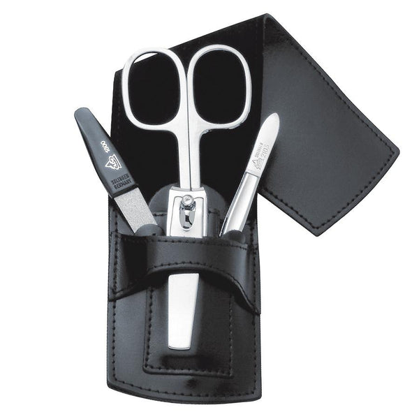 Erbe Solingen 4-Piece Manicure Set, Black Leather Sheath - Fendrihan Canada - 1