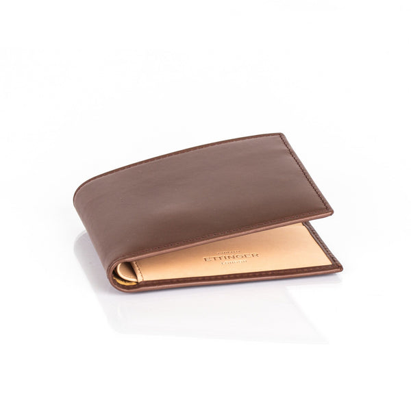 Ettinger Saint Crispin Billfold Leather Wallet with 6 CC Slots