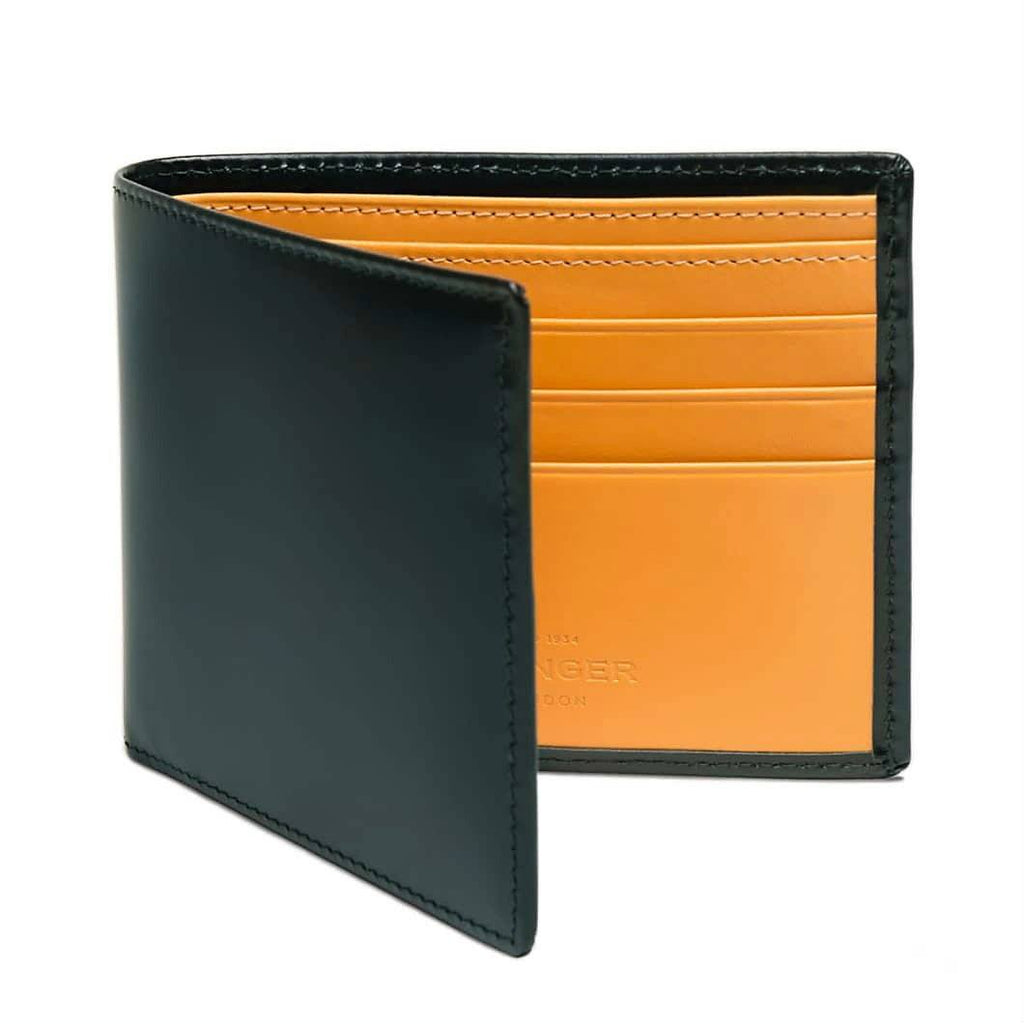 Ettinger Bridle Hide Billfold Leather Wallet with 6 CC Slots Leather Wallet Ettinger Green