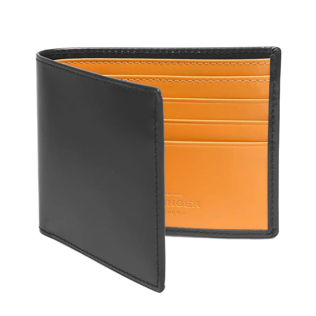 Ettinger Bridle Hide Billfold Leather Wallet with 6 CC Slots Leather Wallet Ettinger Grey