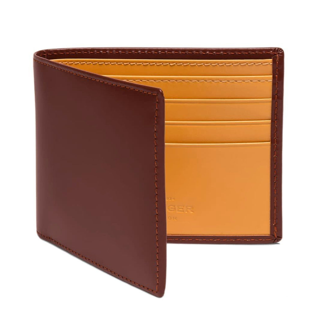 Ettinger Bridle Hide Billfold Leather Wallet with 6 CC Slots Leather Wallet Ettinger Havana