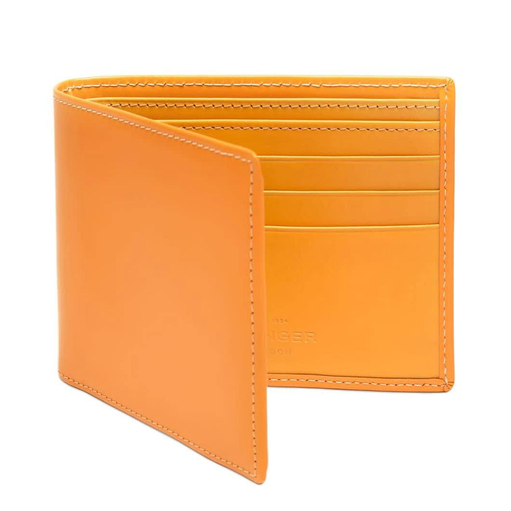 Ettinger Bridle Hide Billfold Leather Wallet with 6 CC Slots Leather Wallet Ettinger London Tan