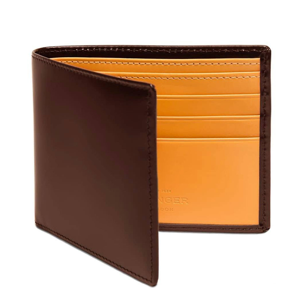 Ettinger Bridle Hide Billfold Leather Wallet with 6 CC Slots Leather Wallet Ettinger Nut