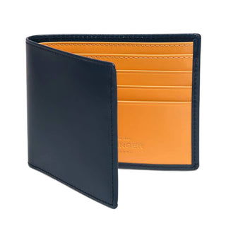 Ettinger Bridle Hide Billfold Leather Wallet with 6 CC Slots Leather Wallet Ettinger Petrol Blue