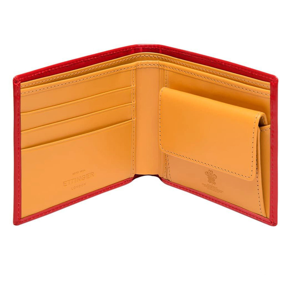 Ettinger Bridle Hide Billfold with 3 Credit Card Slots and Coin Purse Leather Wallet Ettinger
