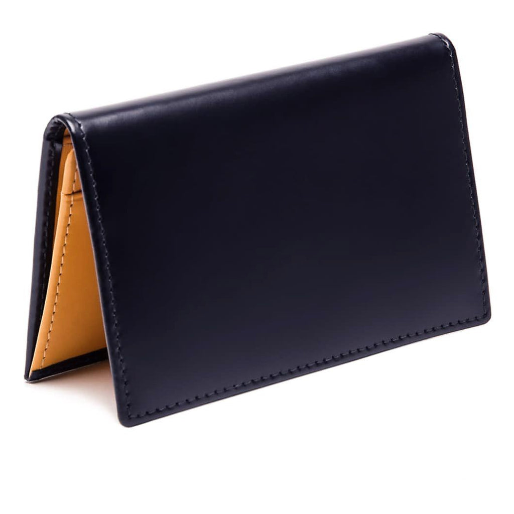 Ettinger Bridle Hide Business Card Case Leather Wallet Ettinger Navy