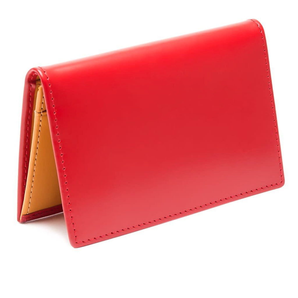 Ettinger Bridle Hide Business Card Case Leather Wallet Ettinger Red