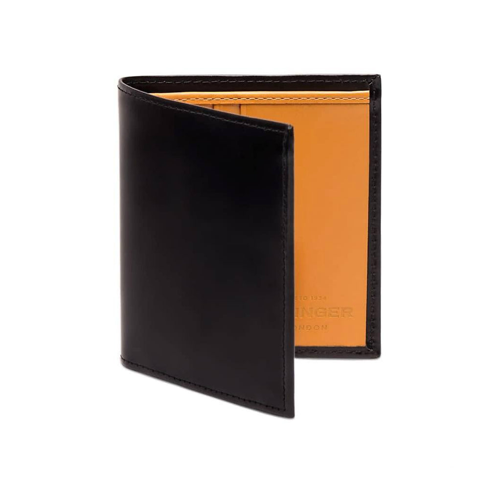 Ettinger Bridle Hide Mini Wallet with 6 Credit Card Slots Leather Wallet Ettinger Black