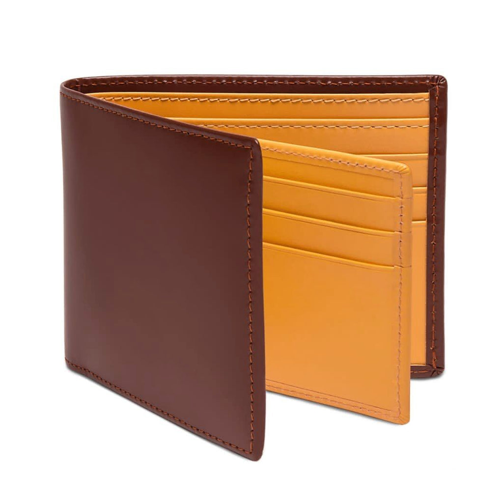 Ettinger Bridle Hide Billfold With 12 Credit Card Slots Leather Wallet Ettinger Havana