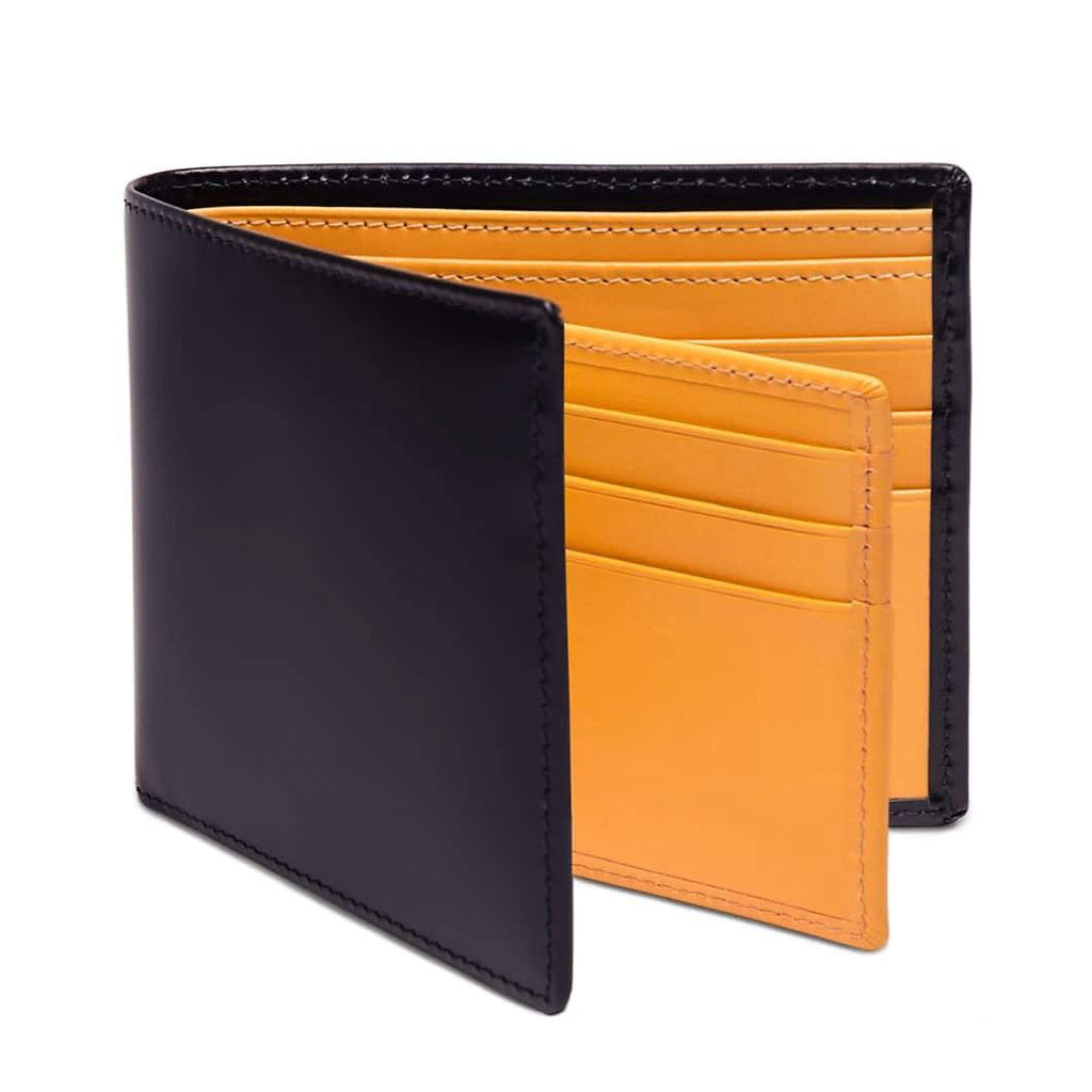 Ettinger Bridle Hide Billfold With 12 Credit Card Slots Leather Wallet Ettinger Navy