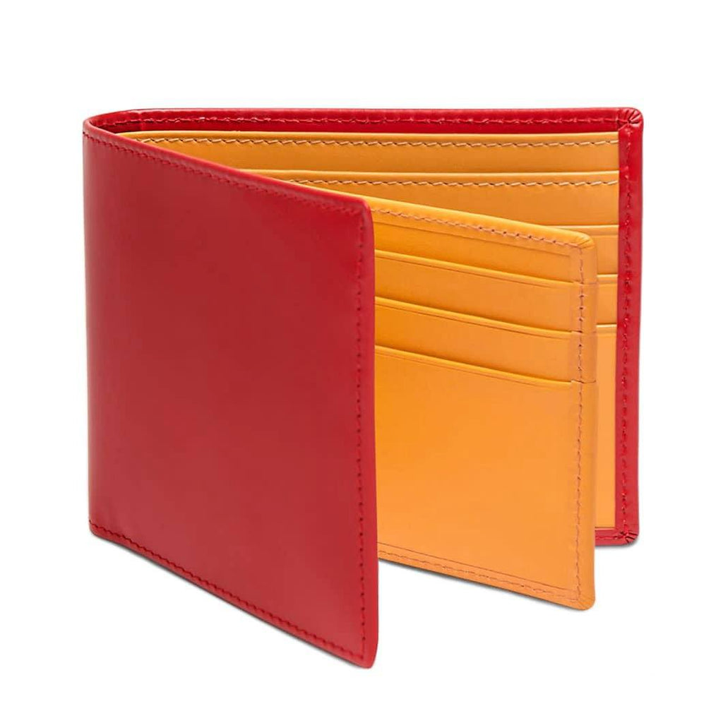 Ettinger Bridle Hide Billfold With 12 Credit Card Slots Leather Wallet Ettinger Red