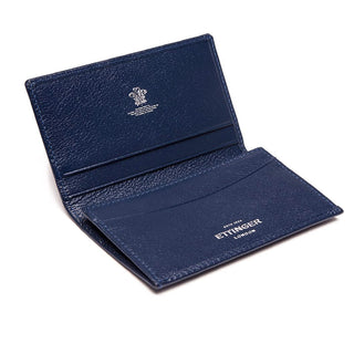 Ettinger Capra Visiting Card Case Leather Wallet Ettinger Marine Blue