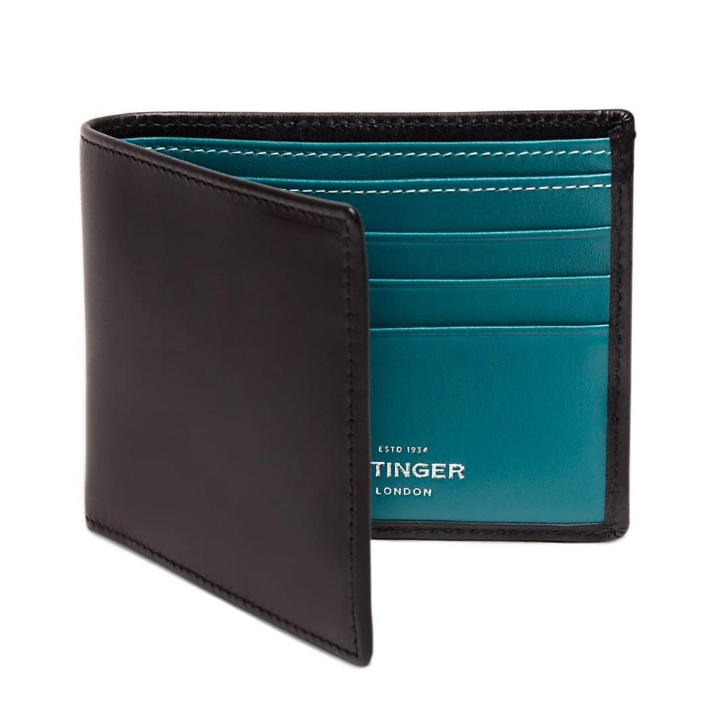 Ettinger Sterling Billfold Leather Wallet with 6 CC Slots Leather Wallet Ettinger Turquoise