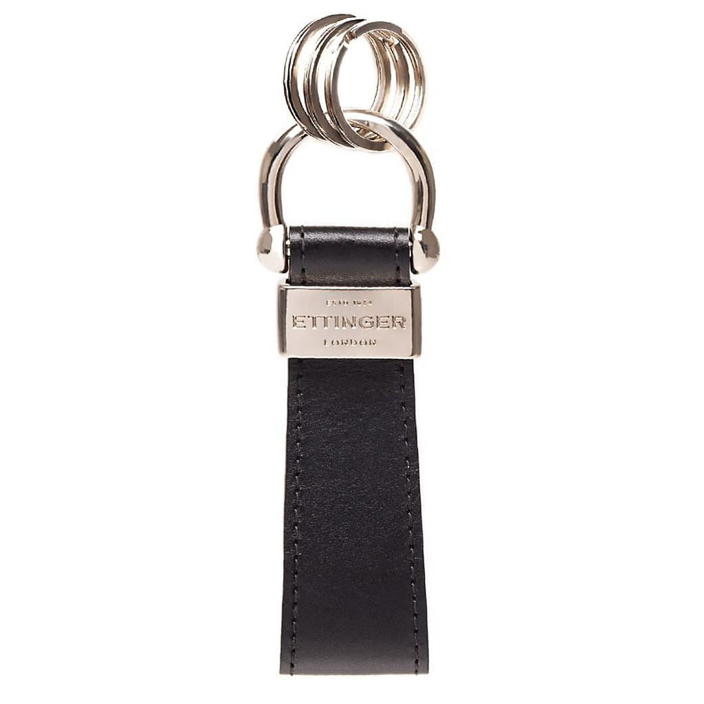 Ettinger Sterling Stirrup Keyring Two Tone, Black & Red Keyring Ettinger