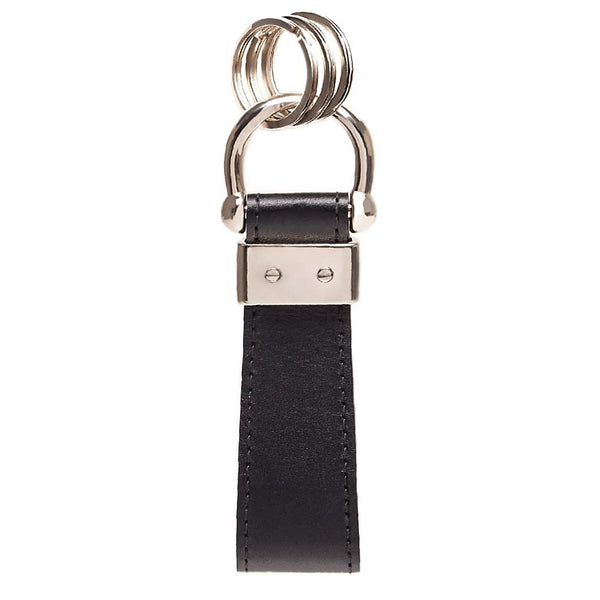 Ettinger Sterling Stirrup Keyring Two Tone, Black & Red