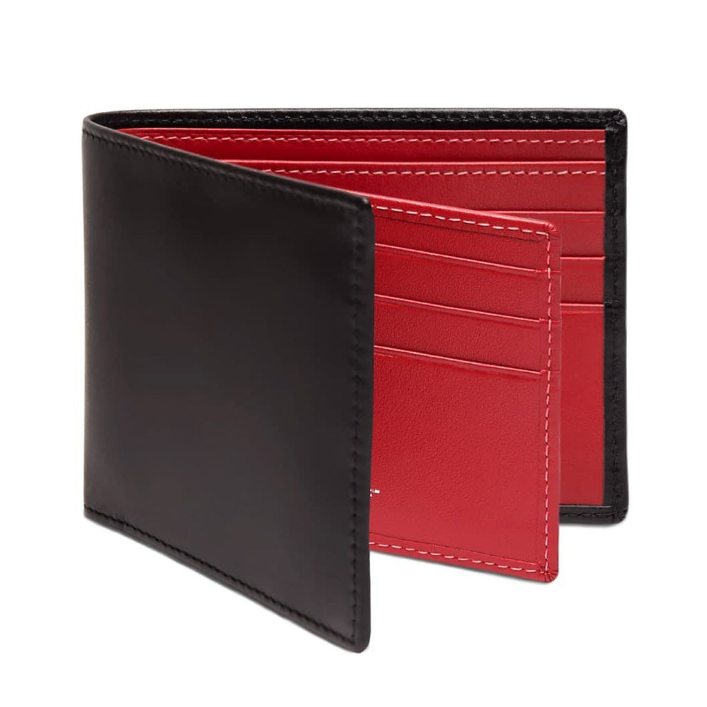 Ettinger Sterling Billfold Leather Wallet with 12 CC Slots Leather Wallet Ettinger Red