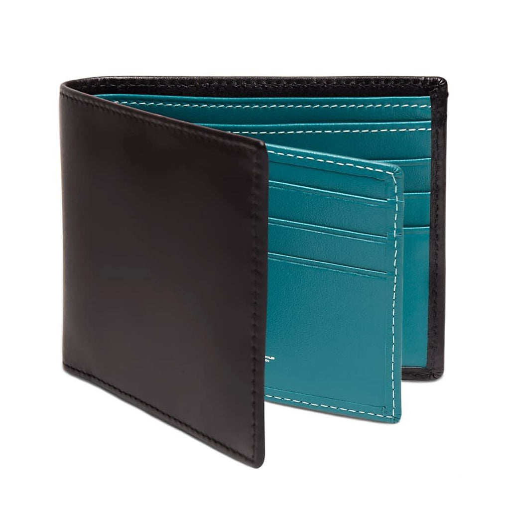 Ettinger Sterling Billfold Leather Wallet with 12 CC Slots Leather Wallet Ettinger Turquoise