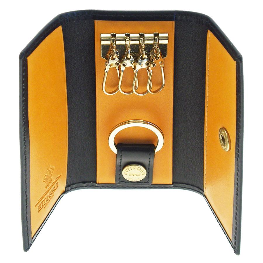 Ettinger Bridle Hide 4-Hook Valet Key Case, Black - Fendrihan Canada - 1