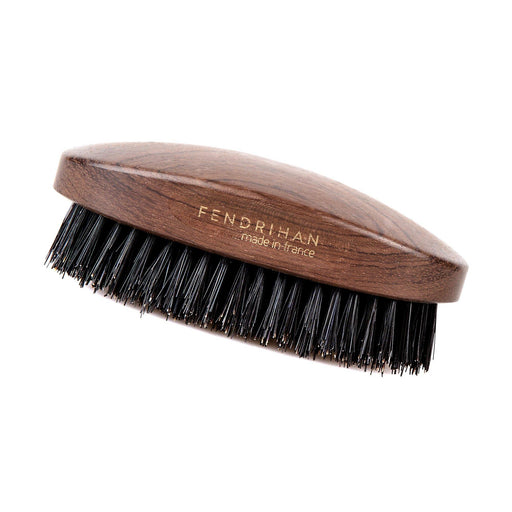 Fendrihan Military Hand-Finished Hair Brush with Dark Bristles, Made in France