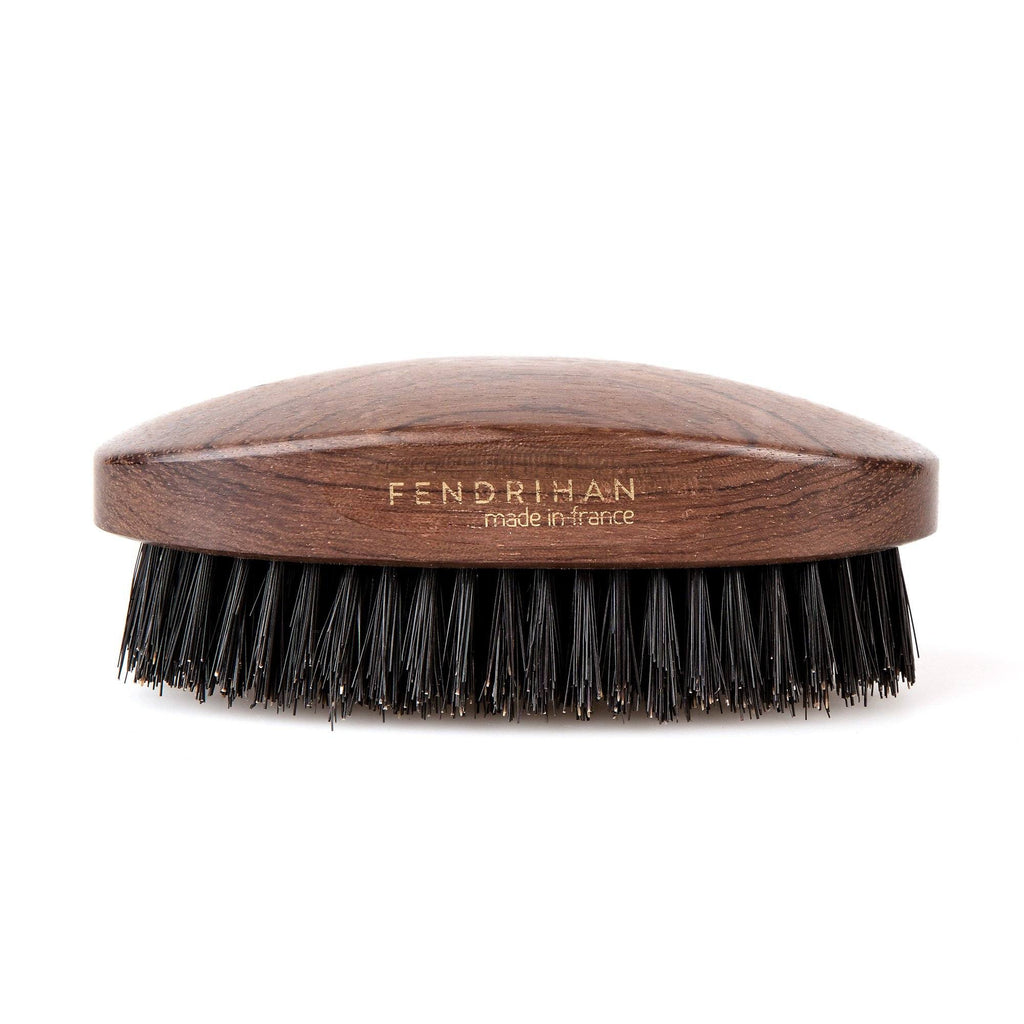 Fendrihan Military Hand-Finished Hair Brush with Dark Bristles, Made in France Hair Brush Fendrihan