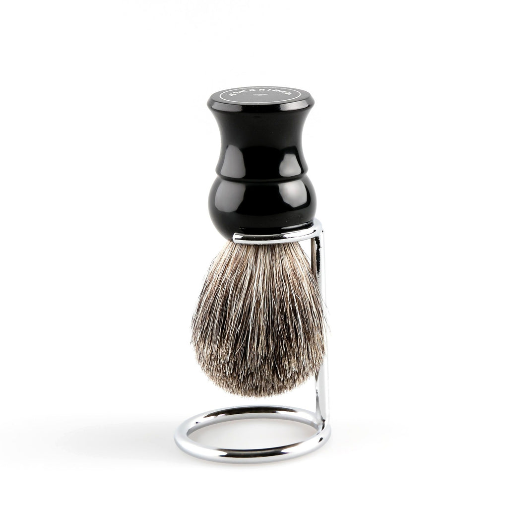 Fendrihan Pure Badger Shaving Brush, Black Handle Badger Bristles Shaving Brush Fendrihan