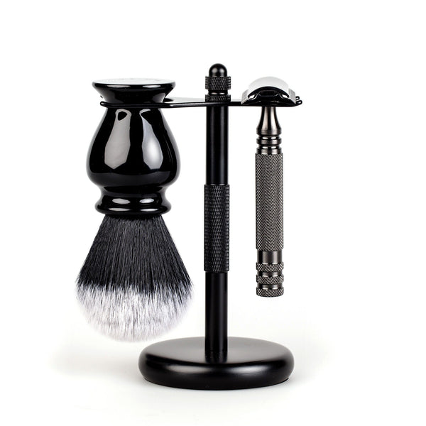 3-Piece Wet Shaving Set with Stainless Steel Safety Razor, Save $15
