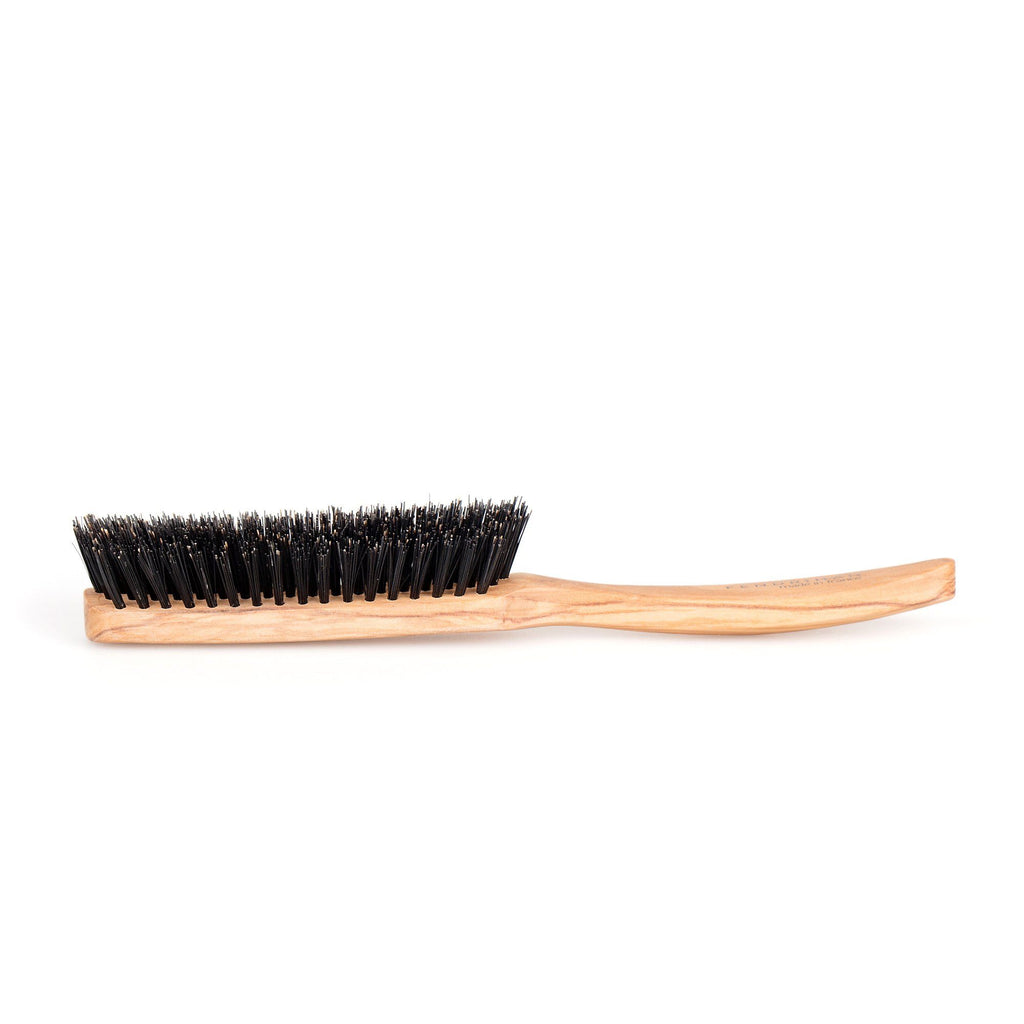 Fendrihan 5 Row Olivewood Hairbrush with Dark Bristles, Made in France Hair Brush Fendrihan