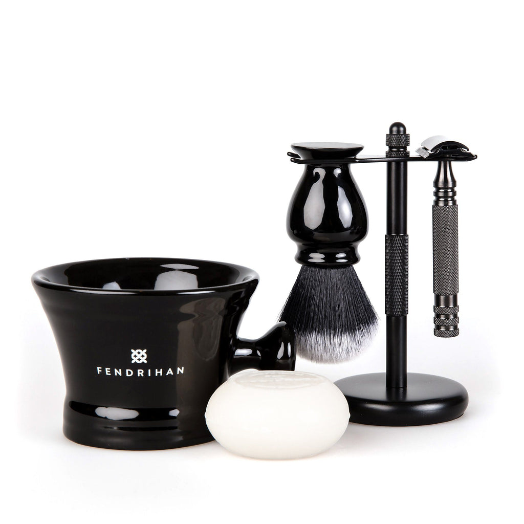 5-Piece Wet Shaving Set with Stainless Steel Safety Razor, Save $25 Shaving Gift Set Fendrihan Ambassador MK II 22 mm Coconut & Vanilla